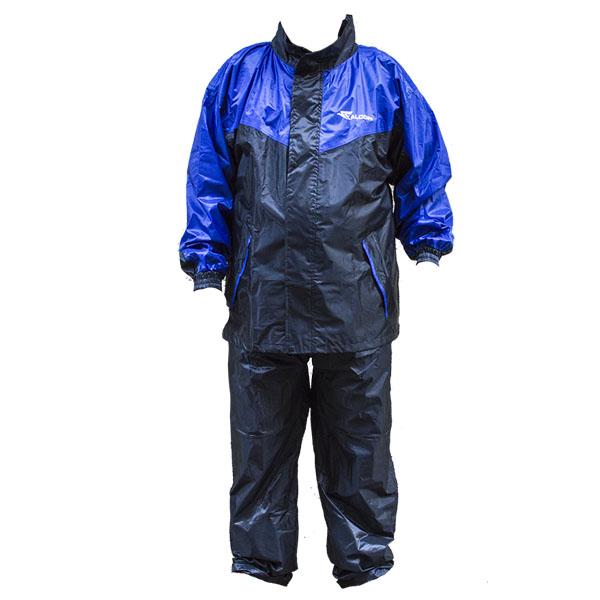 Αδιάβροχο set μοτοσυκλέτας (Παντελόνι και σακάκι) μαύρο / μπλε FACOM MY-878A